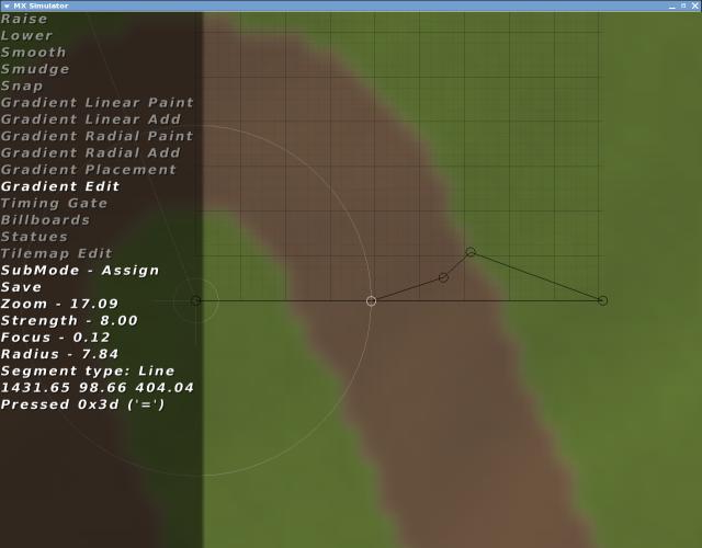 MX Simulator Track Editing